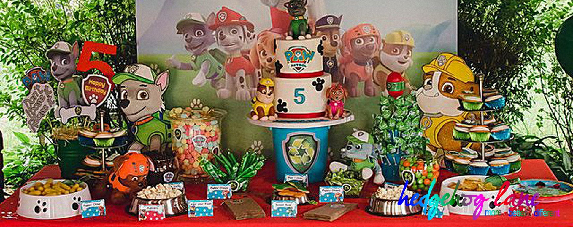Paw Patrol Dessert Table