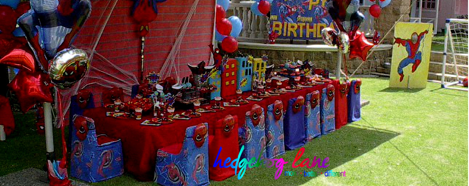 Spiderman Themed Kids  Party Table and Decor