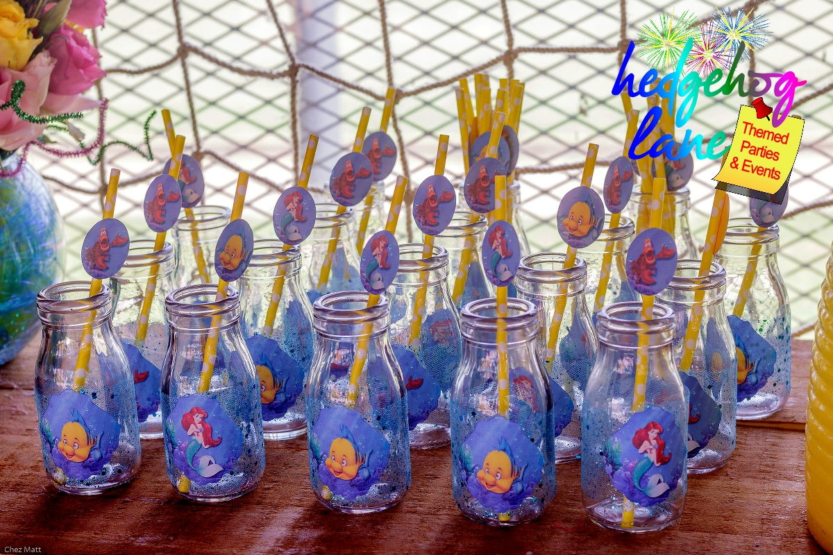 Ariel little mermaid themed party decor hedgehog lane for Ariel decoration