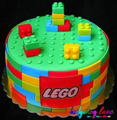 Lego Round Building Block Cake