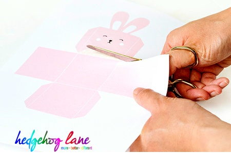 Easter craft cutting out template from card