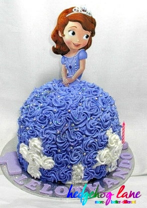 Princess Sofia Doll Cake Hedgehog LaneThemed Party Decor